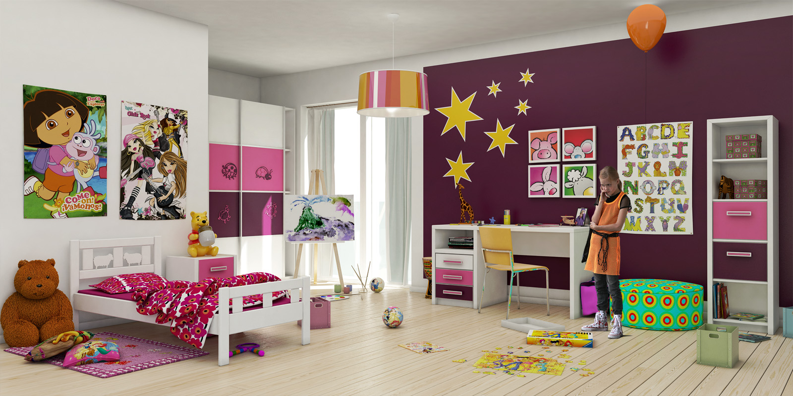 das kinderzimmer. Black Bedroom Furniture Sets. Home Design Ideas